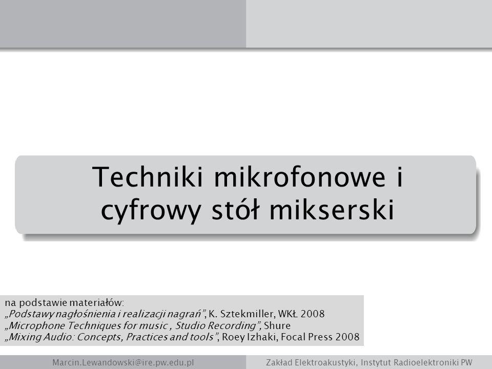 Techniki mikrofonowe i cyfrowy stół mikserski