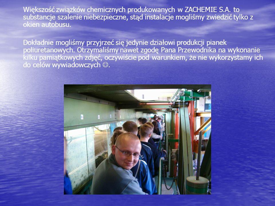 Większość związków chemicznych produkowanych w ZACHEMIE S. A