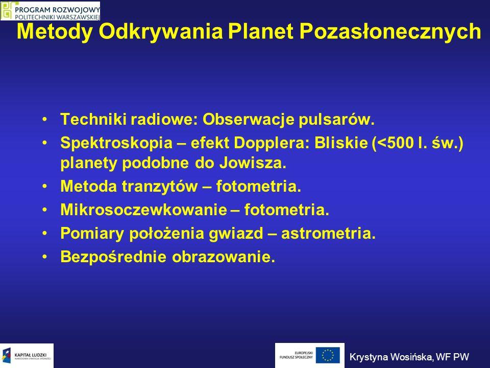 Metody Odkrywania Planet Pozasłonecznych