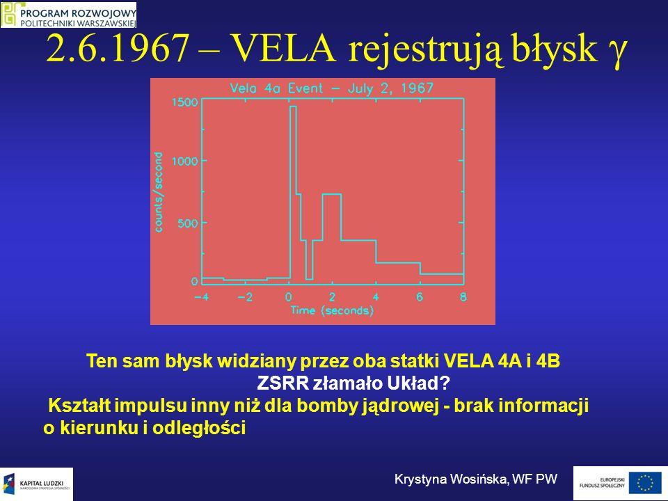 2.6.1967 – VELA rejestrują błysk g