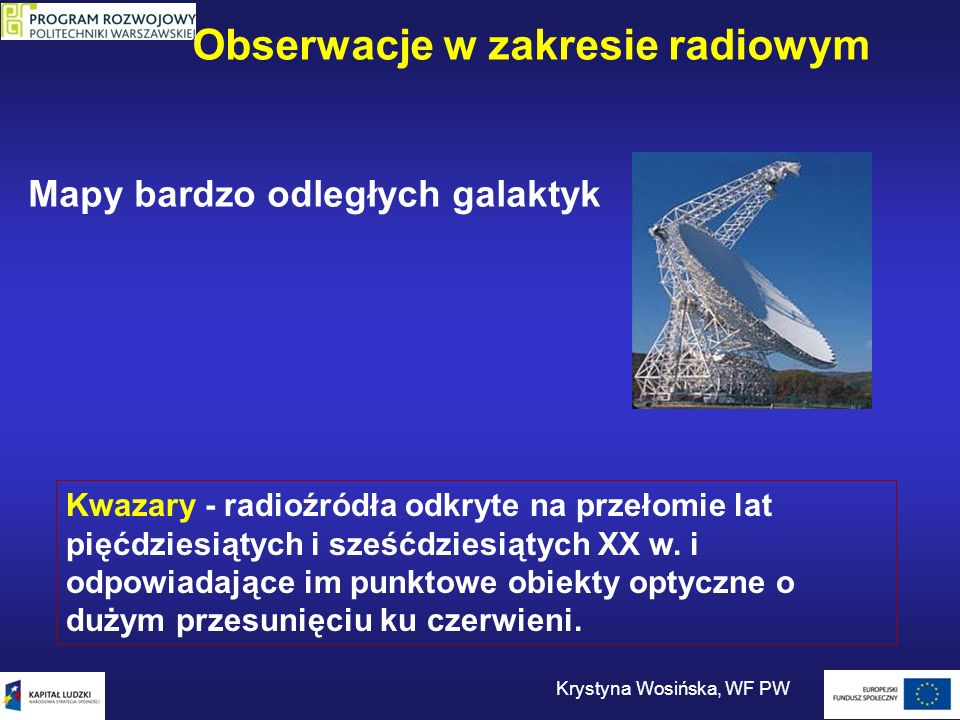 Obserwacje w zakresie radiowym