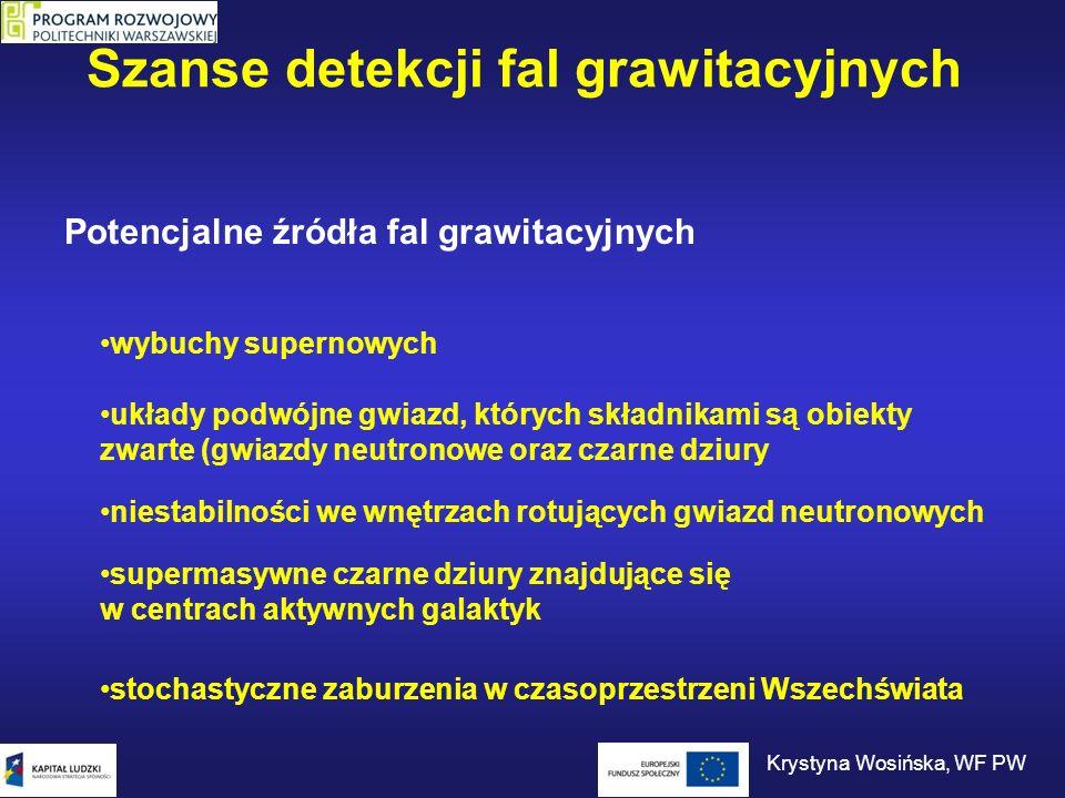 Szanse detekcji fal grawitacyjnych