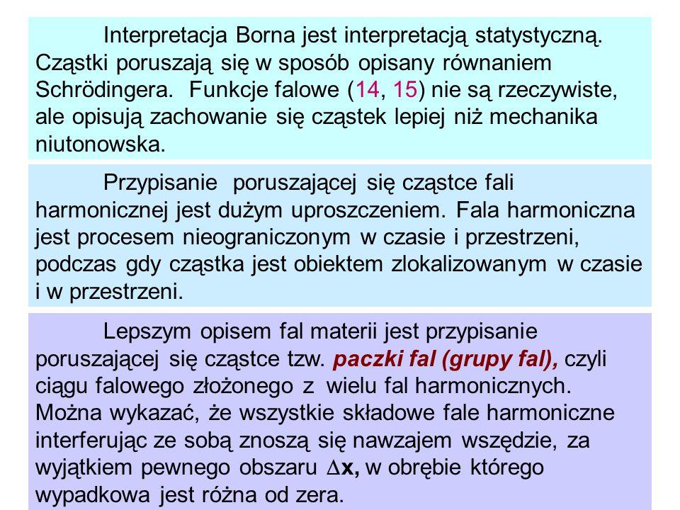 Interpretacja Borna jest interpretacją statystyczną