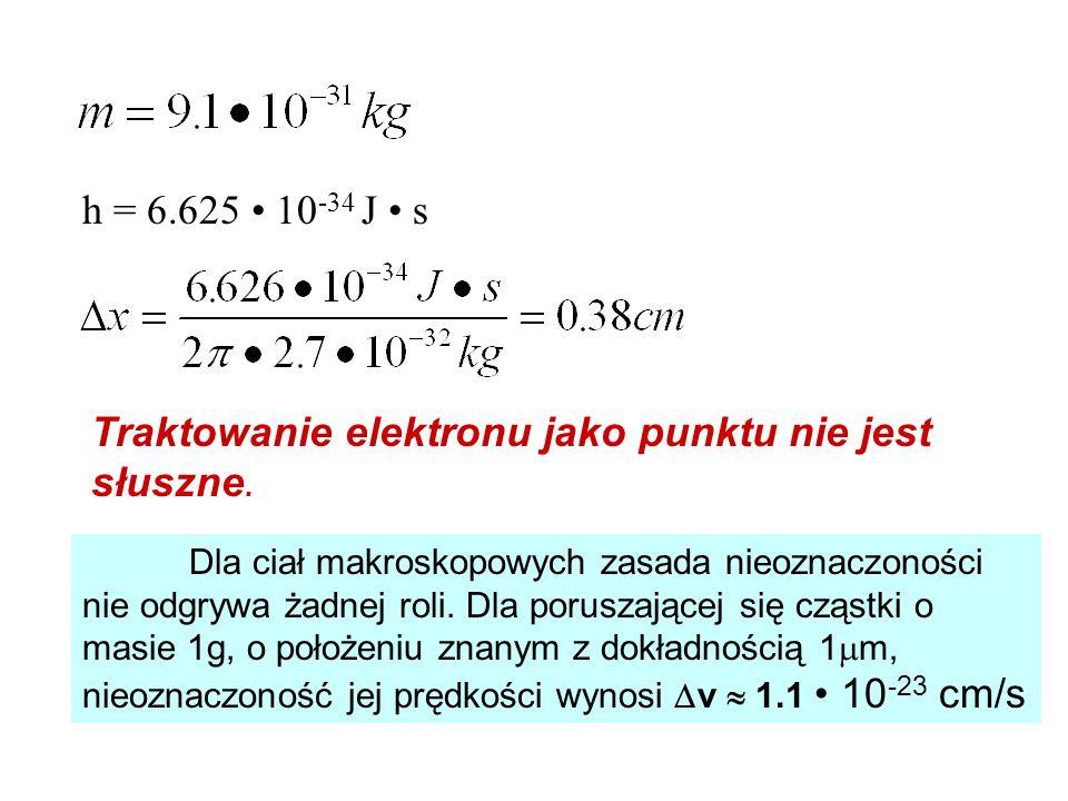 Traktowanie elektronu jako punktu nie jest słuszne.