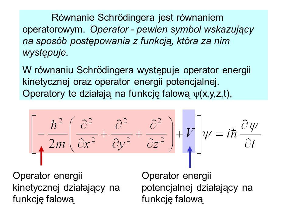 Równanie Schrödingera jest równaniem operatorowym
