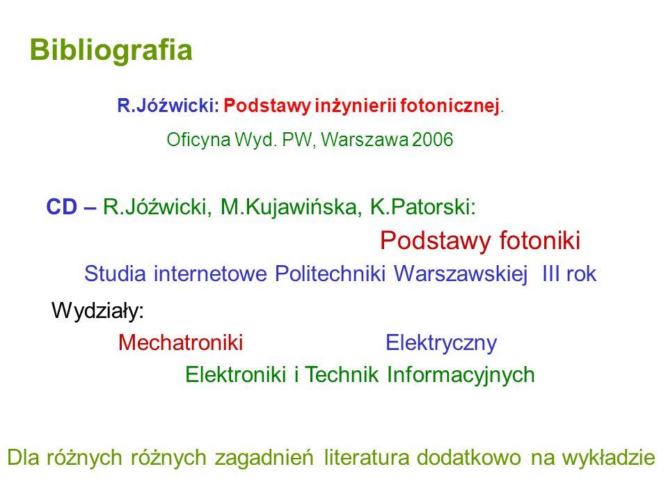 Bibliografia Studia internetowe Politechniki Warszawskiej III rok
