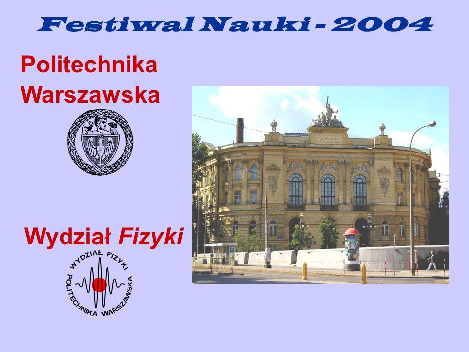 Festiwal Nauki - 2004 Politechnika Warszawska Wydział Fizyki