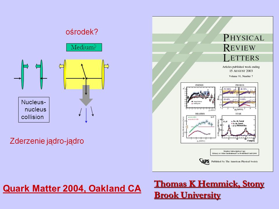 Thomas K Hemmick, Stony Brook University Quark Matter 2004, Oakland CA
