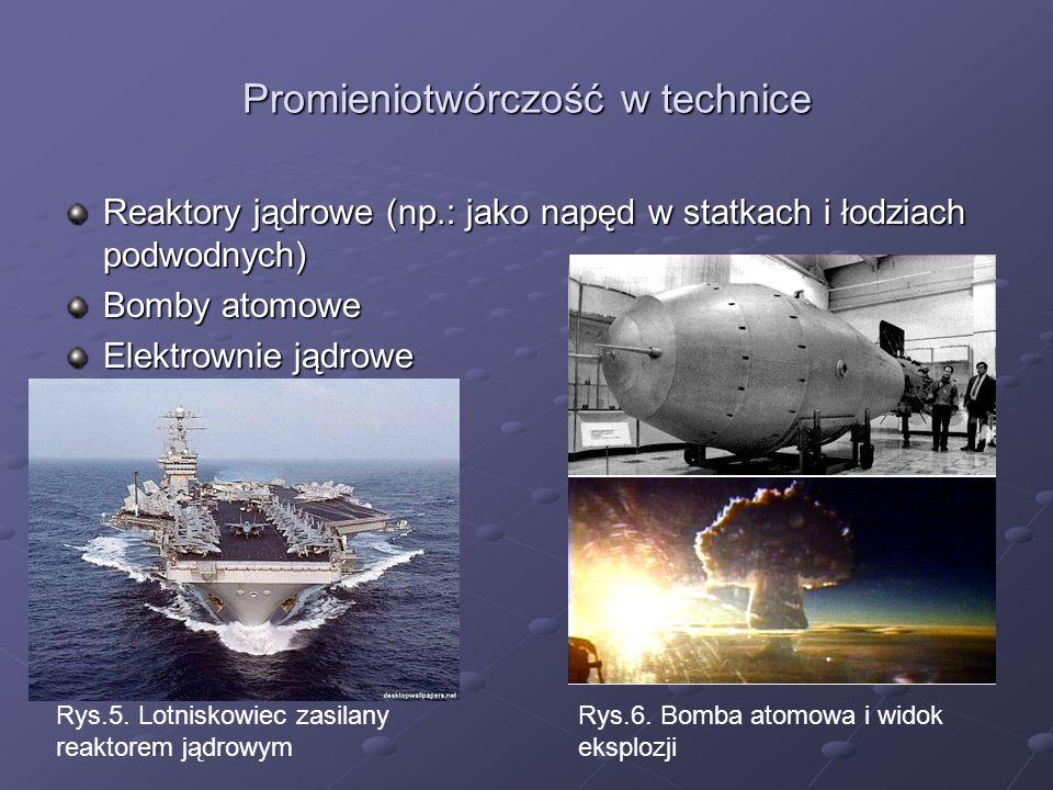 Promieniotwórczość w technice