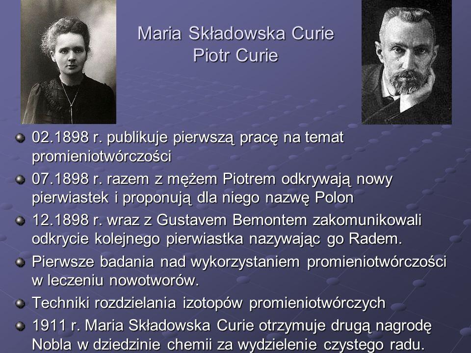Maria Składowska Curie Piotr Curie