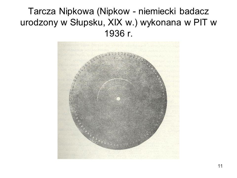 Tarcza Nipkowa (Nipkow - niemiecki badacz urodzony w Słupsku, XIX w