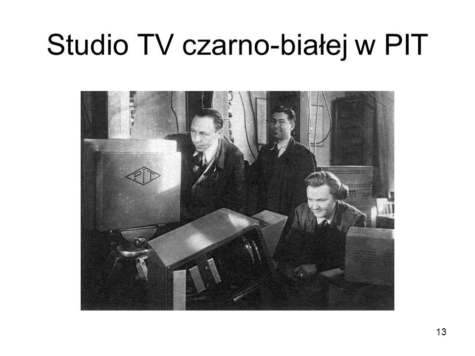 Studio TV czarno-białej w PIT