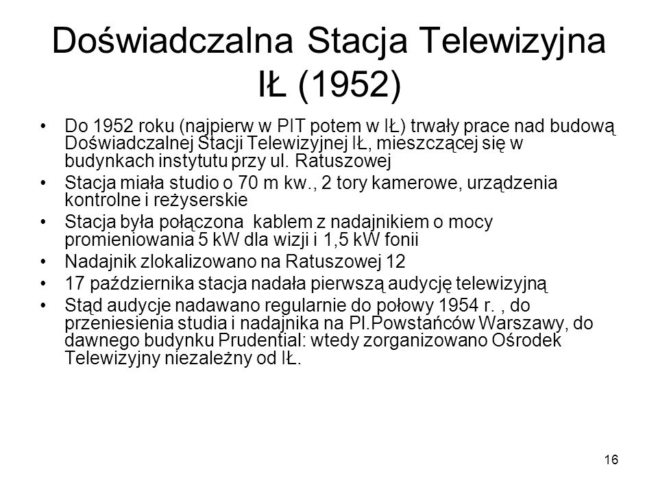 Doświadczalna Stacja Telewizyjna IŁ (1952)