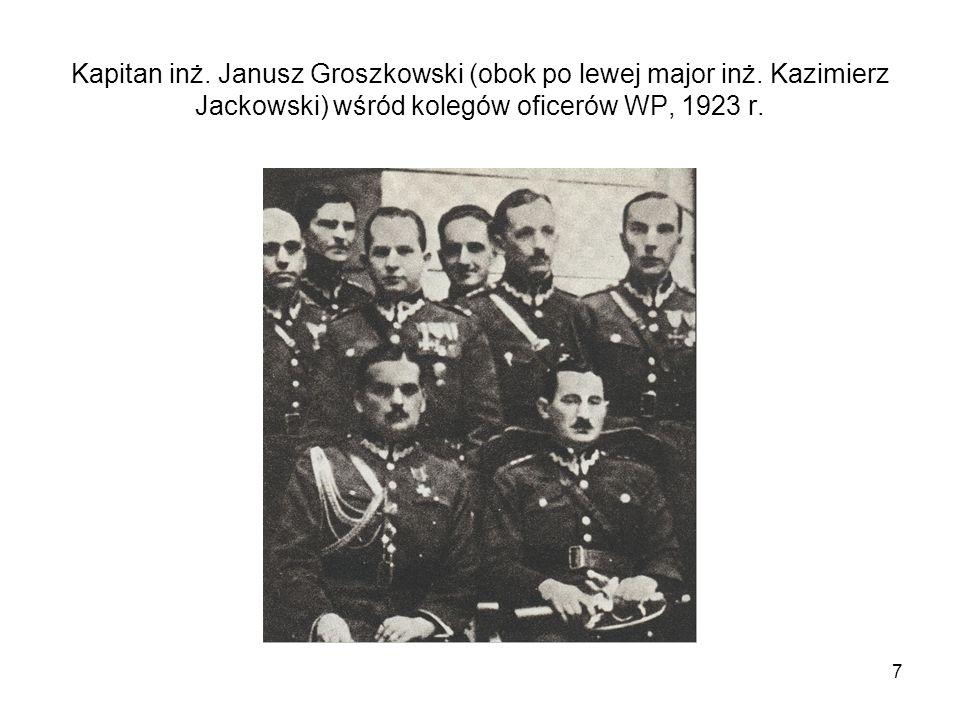 Kapitan inż. Janusz Groszkowski (obok po lewej major inż