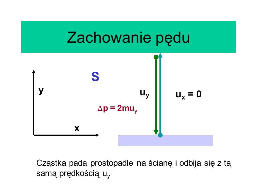 Zachowanie pędu S y uy ux = 0 x p = 2muy