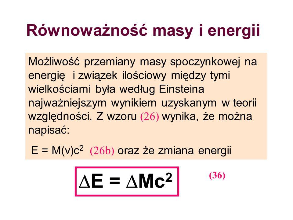 Równoważność masy i energii
