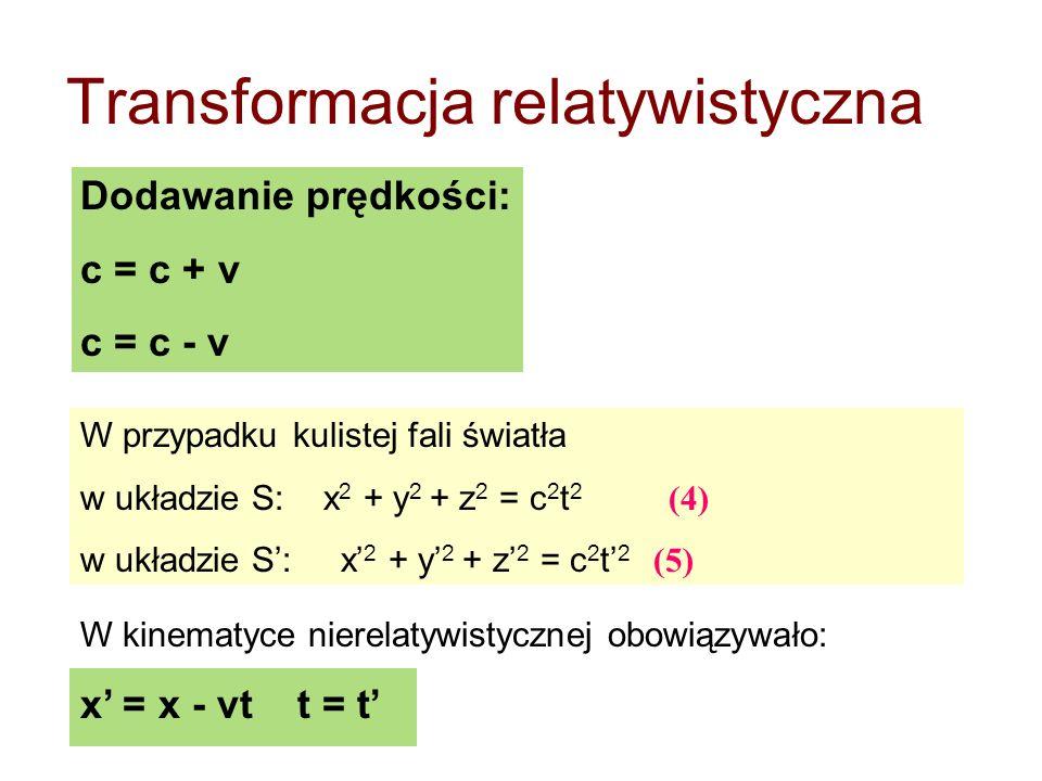 Transformacja relatywistyczna