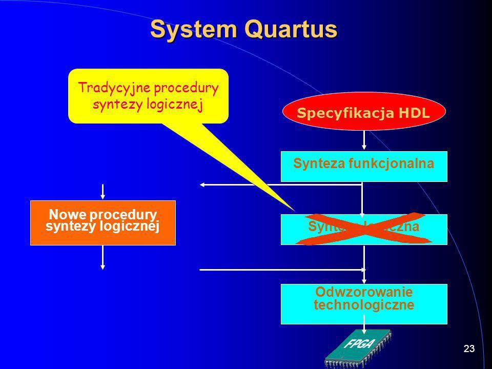 Odwzorowanie technologiczne Nowe procedury syntezy logicznej