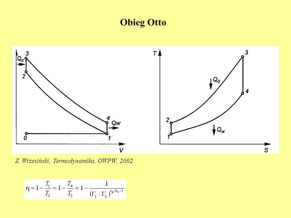 Obieg Otto Z. Wrzesiński, Termodynamika, OWPW, 2002