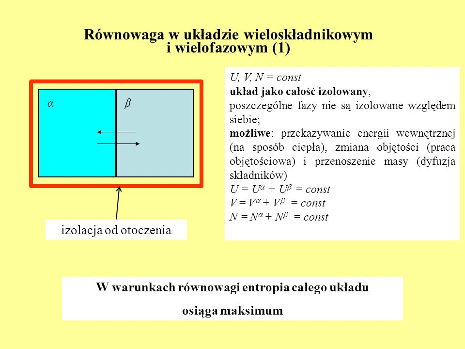 Równowaga w układzie wieloskładnikowym i wielofazowym (1)