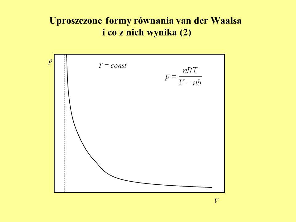Uproszczone formy równania van der Waalsa i co z nich wynika (2)