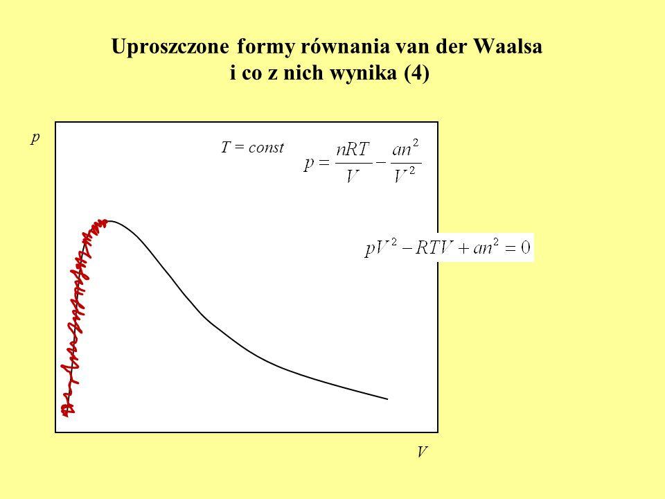 Uproszczone formy równania van der Waalsa i co z nich wynika (4)