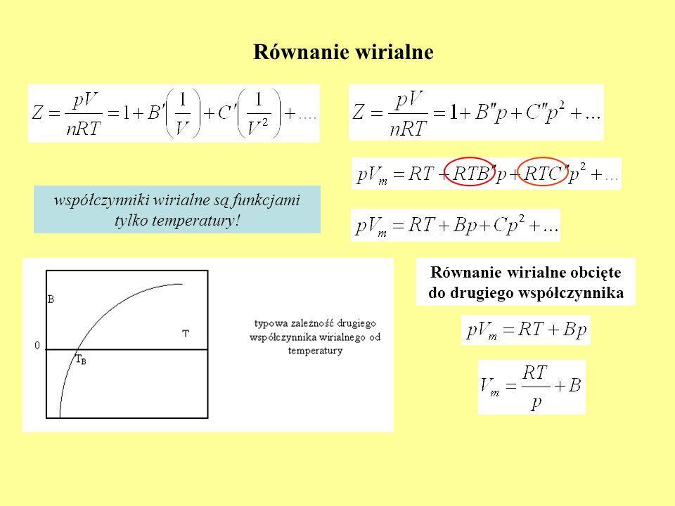 Równanie wirialne obcięte do drugiego współczynnika