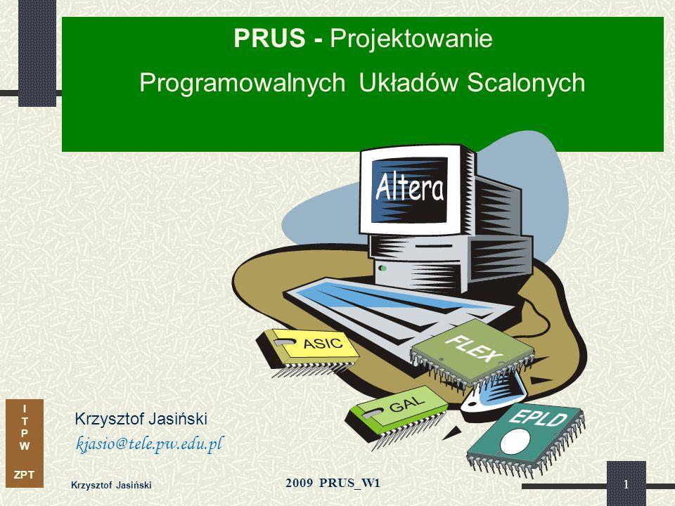 PRUS - Projektowanie Programowalnych Układów Scalonych