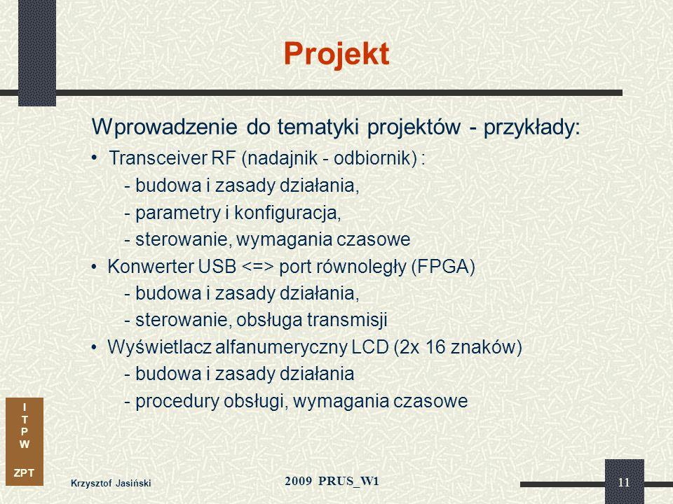 Wprowadzenie do tematyki projektów - przykłady: