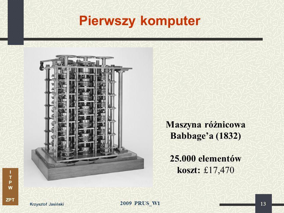 Maszyna różnicowa Babbage'a (1832)