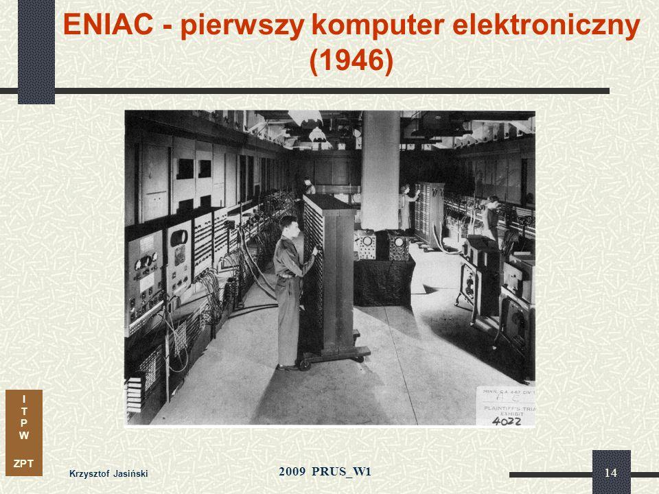 ENIAC - pierwszy komputer elektroniczny (1946)