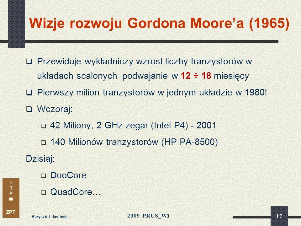 Wizje rozwoju Gordona Moore'a (1965)