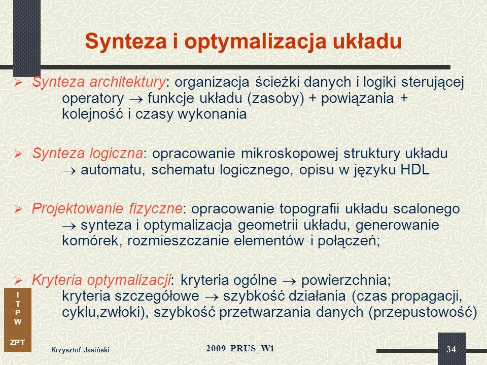 Synteza i optymalizacja układu