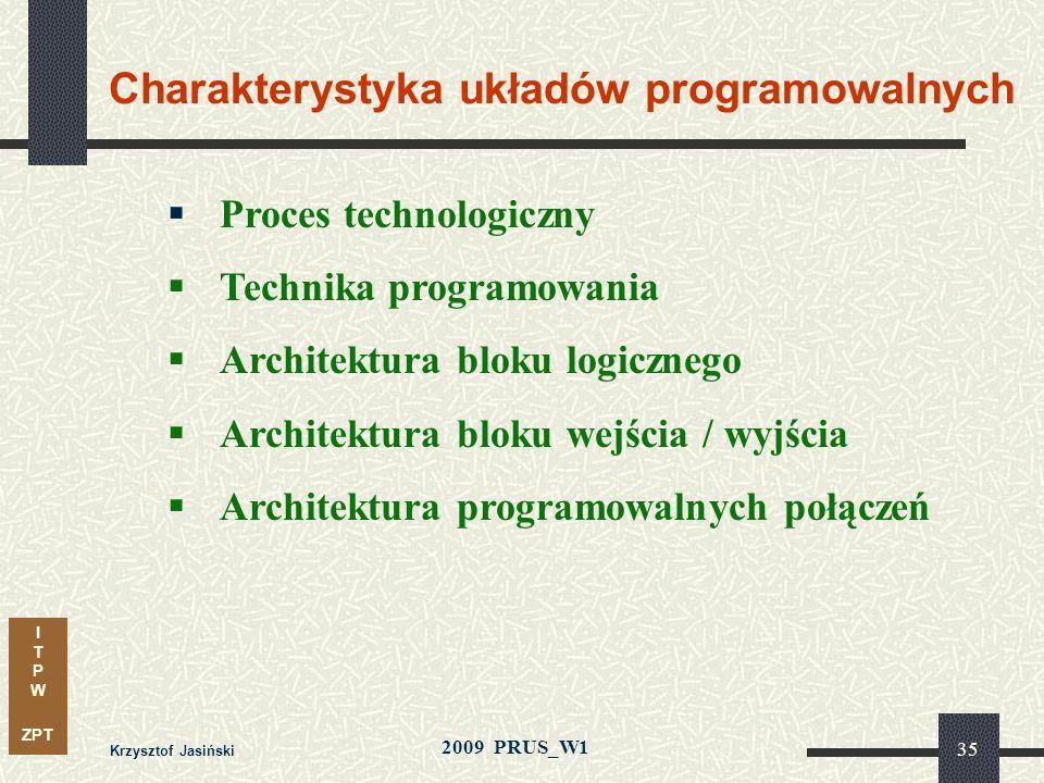 Charakterystyka układów programowalnych