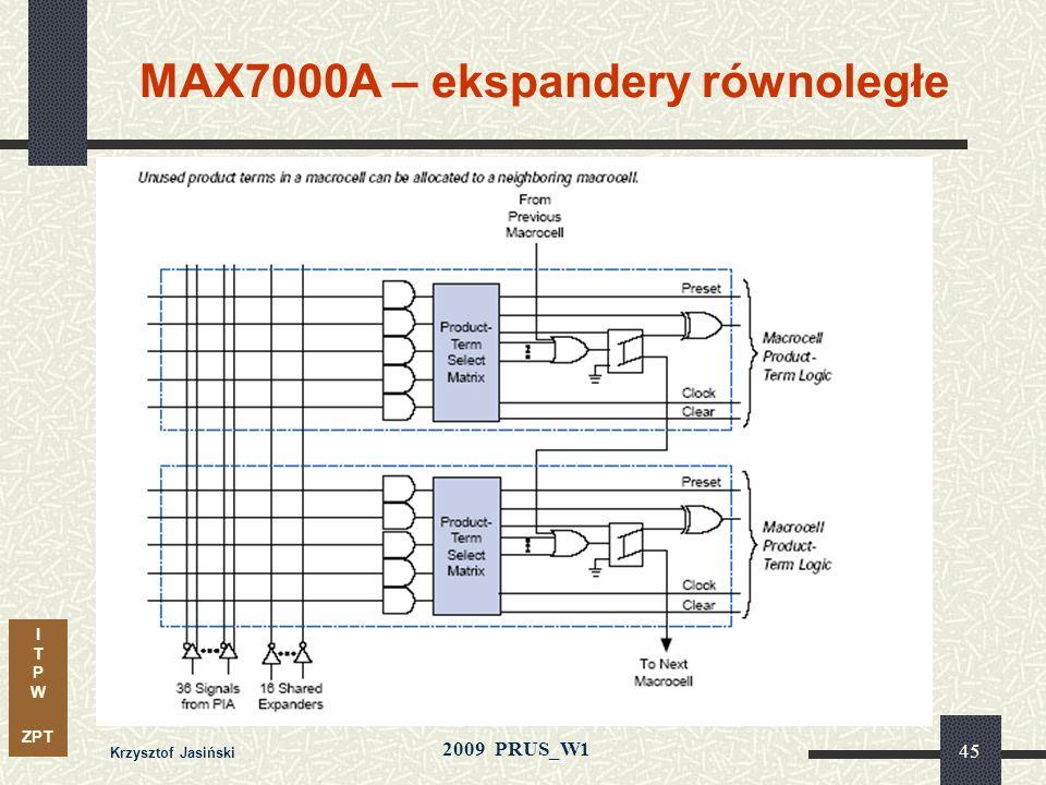 MAX7000A – ekspandery równoległe