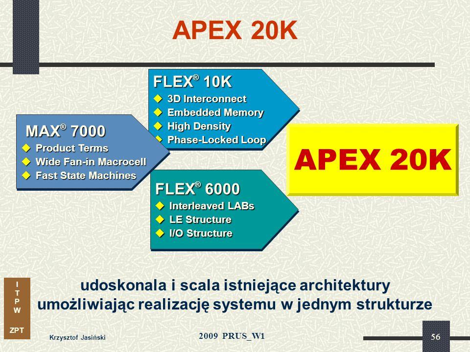 APEX 20K APEX 20K FLEX® 10K MAX® 7000 FLEX® 6000