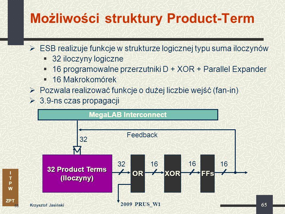 Możliwości struktury Product-Term