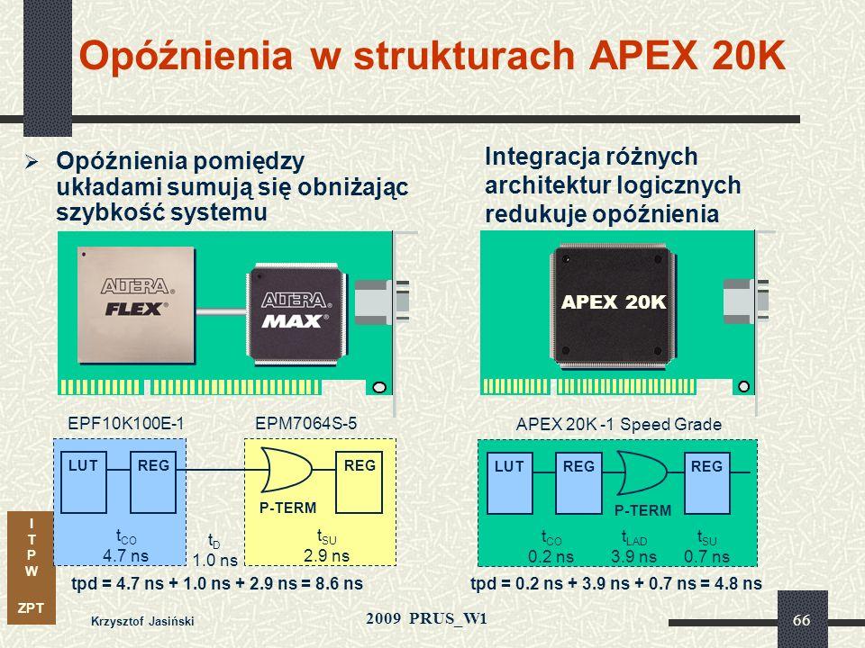 Opóźnienia w strukturach APEX 20K