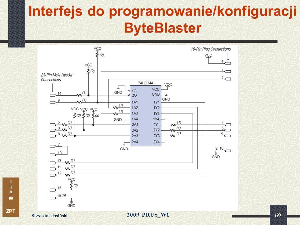 Interfejs do programowanie/konfiguracji ByteBlaster