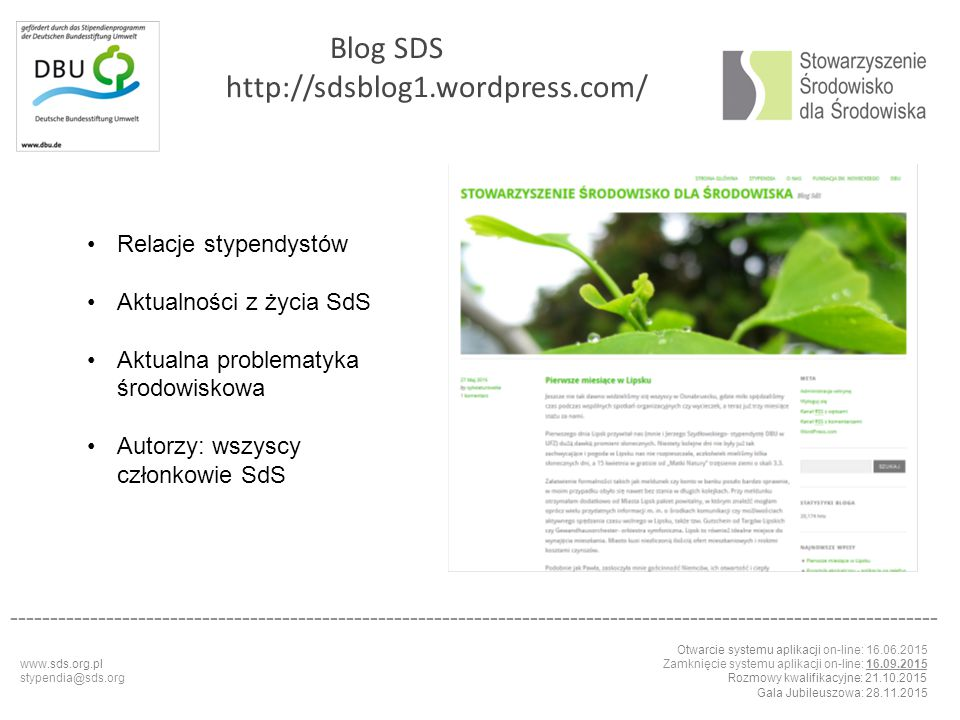 Blog SDS http://sdsblog1.wordpress.com/