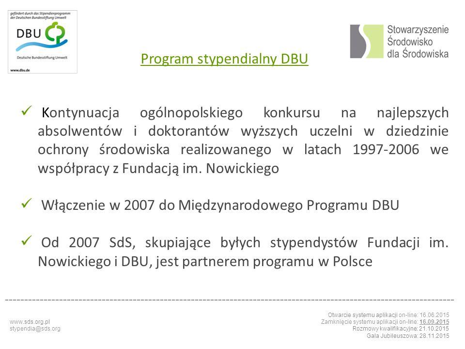 Program stypendialny DBU