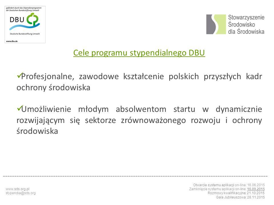 Cele programu stypendialnego DBU