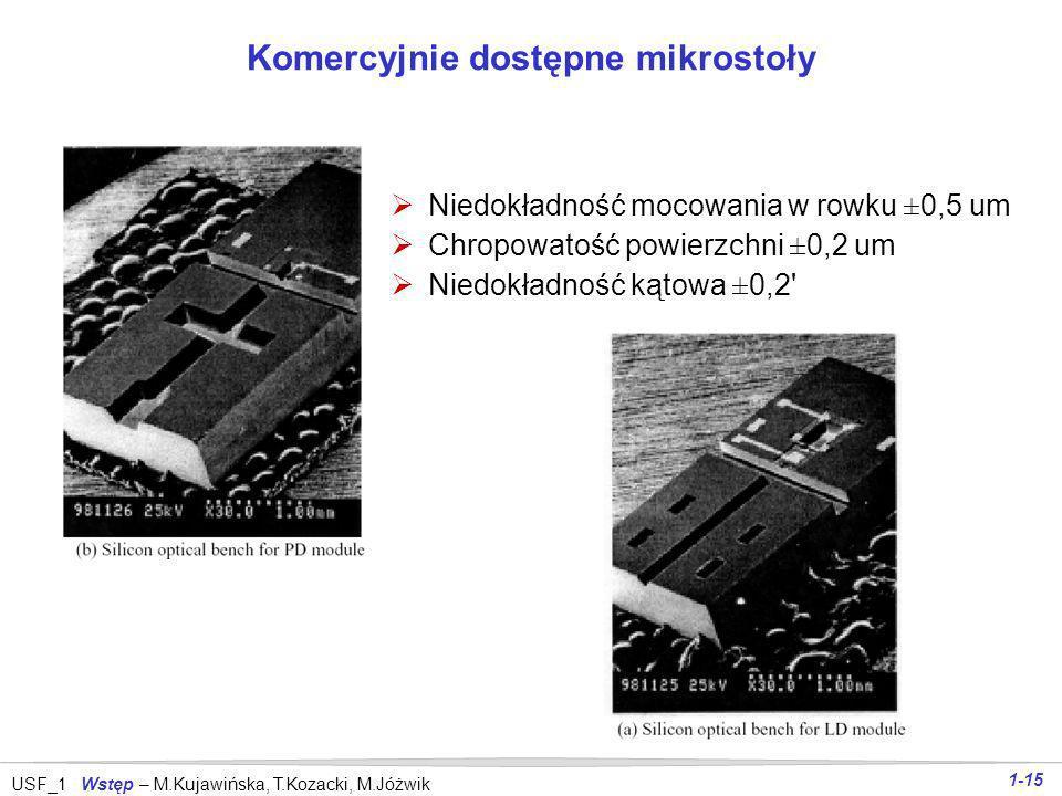 Komercyjnie dostępne mikrostoły