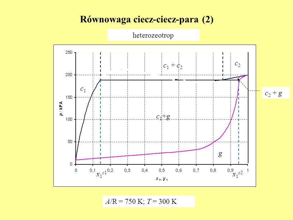 Równowaga ciecz-ciecz-para (2)