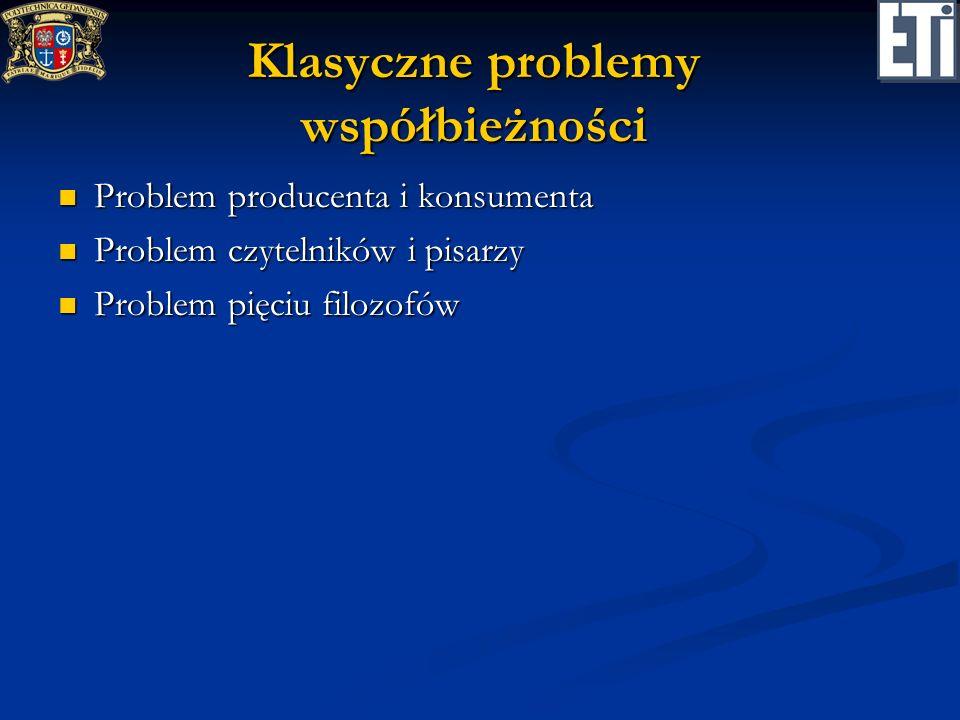 Klasyczne problemy współbieżności