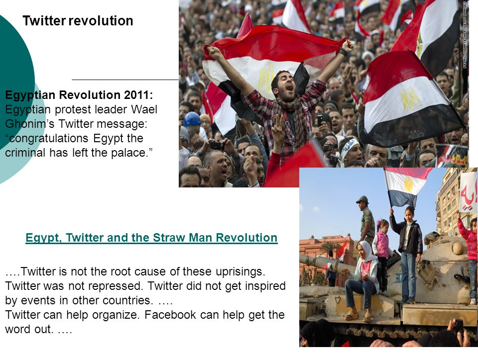 Twitter revolution Egyptian Revolution 2011: Egyptian protest leader Wael Ghonim's Twitter message:
