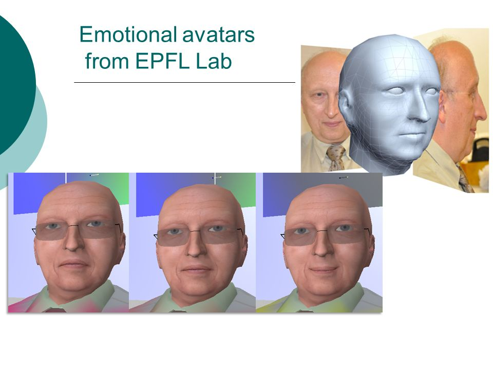 Emotional avatars from EPFL Lab