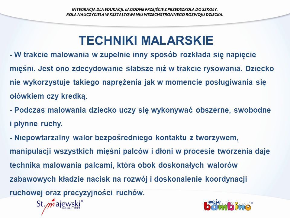 TECHNIKI MALARSKIE