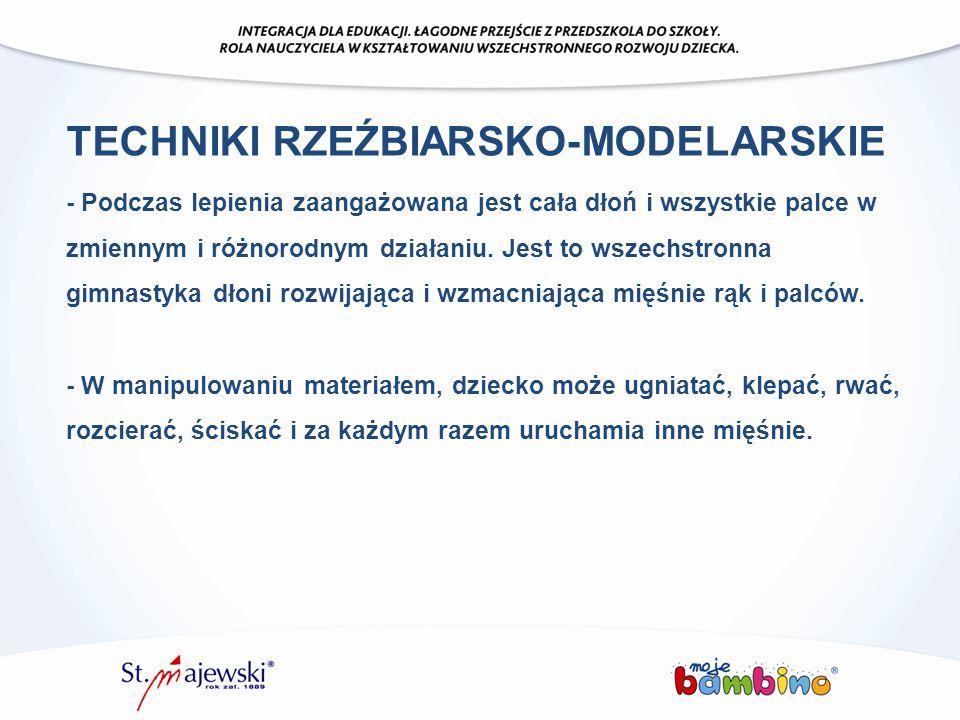 TECHNIKI RZEŹBIARSKO-MODELARSKIE
