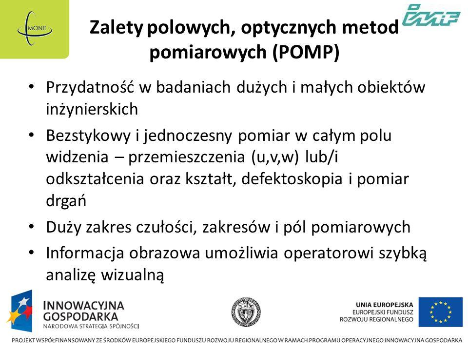 Zalety polowych, optycznych metod pomiarowych (POMP)